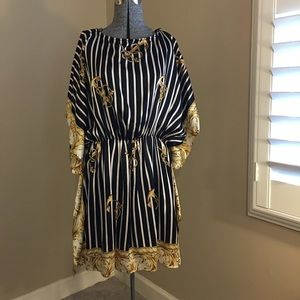 Voom by Joy Han Silk Scarf Cocktail Dress
